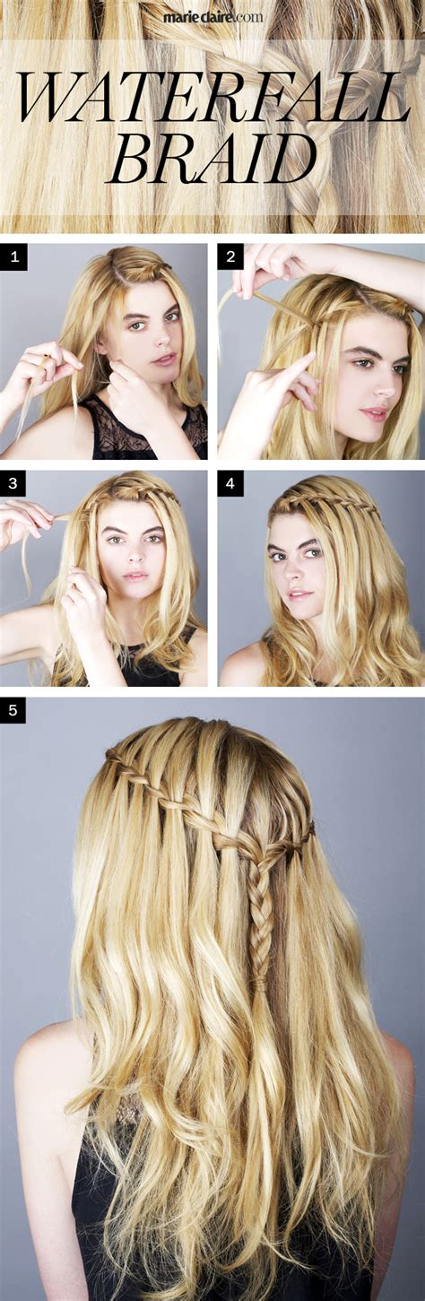 how to do a waterfall braid step by step on shprt hair hair how to the waterfall braid