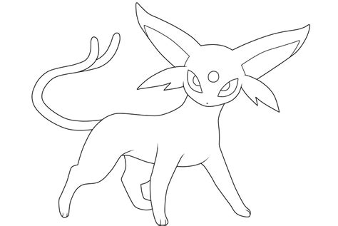 pokemon coloring pages espeon espeon lineart by moxie2d on deviantart