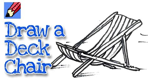 draw a deck how to draw a deck chair real easy spoken tutorial