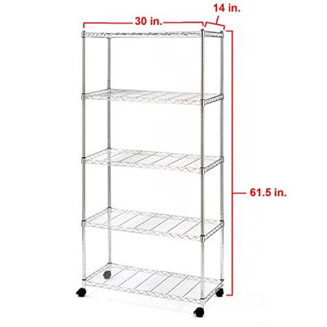 Wire Shelf Wheels by Metal Shelving Unit Classics Standing Shelf Holds Wire