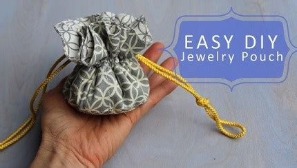 pattern for fabric jewelry pouch tutorial drawstring jewelry pouch sewing