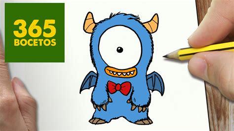 imagenes de galletas kawaii como dibujar monstruo kawaii paso a paso dibujos kawaii