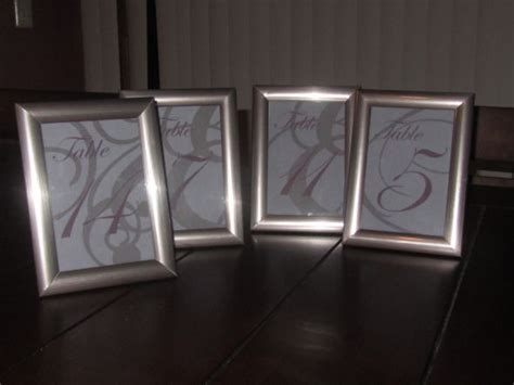 silver frames for wedding table numbers table number frames weddingbee photo gallery