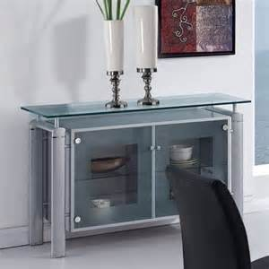 glass buffet furniture global furniture clear glass top buffet with silver legs