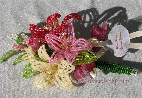 fiore con perline bomboniere fiori di perline