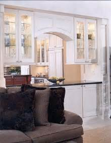 Double Sided Kitchen Cabinets All White And Cherry Stained Island With Charcol Colored