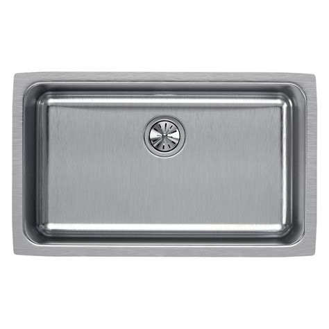 elkay undermount stainless steel kitchen sink elkay lustertone undermount stainless steel 31 in single