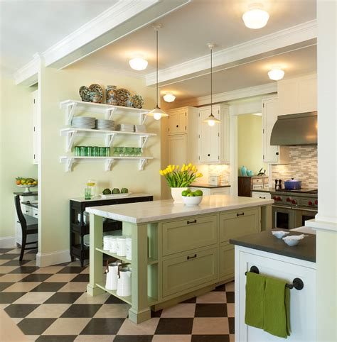 green kitchen is perfect choice for a kitchen wall and lakefront cottage home bunch interior design ideas