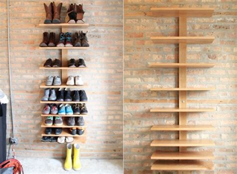 shoe shelf diy practical cantilever shelf by seth ellsworth