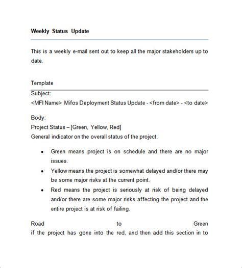 weekly update template weekly update template images