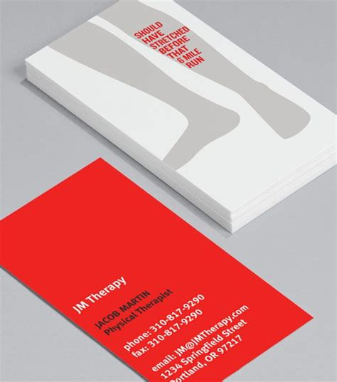 Physiotherapy Business Cards Templates by 16 Best Physiotherapist Cards Presentation Images On