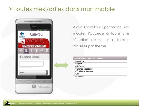 carrefour mobile site mobile carrefour spectacles