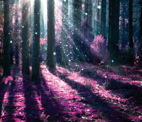 Night Table Decor Enchanted Forest Wall Mural Purple Tree Photo Wallpaper
