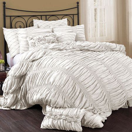cream ruched comforter lined with elegantly tailored ruching this crisp white
