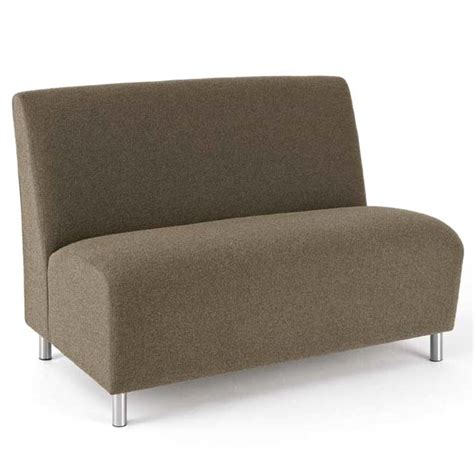 Armless Loveseat lesro q1502g8 ravenna series armless loveseat designer fabric