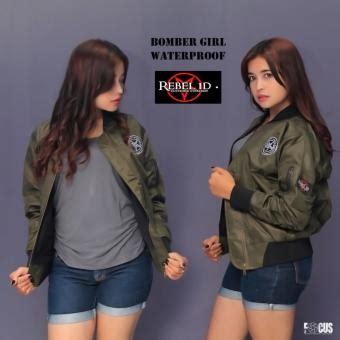 Jaket Bomber Rebel Id rebel id bomber jaket wanita hijau armi lazada indonesia
