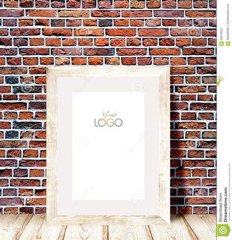 Against A Brick Wall wooden frame against a brick wall stock image image of