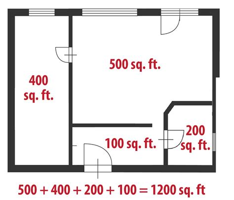 How To Find Square Footage Of Room by How To Calculate Square Even If Your Home Is A