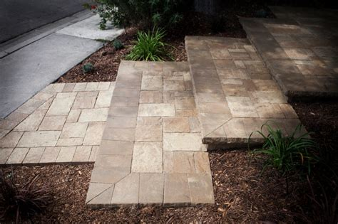 Patio Interlocking Pavers Interlocking Pavers Steps Mediterranean Patio Orange County By Tru Landscape Services