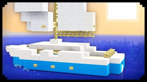 how to make a sailboat in minecraft minecraft how to make a sailboat youtube