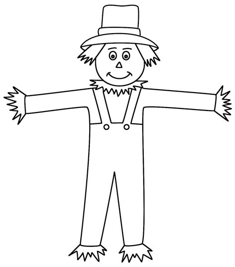 Scarecrow Images Coloring Pages Coloring Home Scarecrow Color Pages