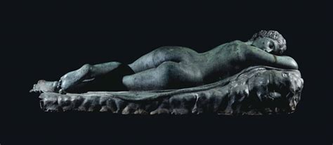 the reclining hermaphrodite a bronze reclining figure of the hermaphrodite cast from