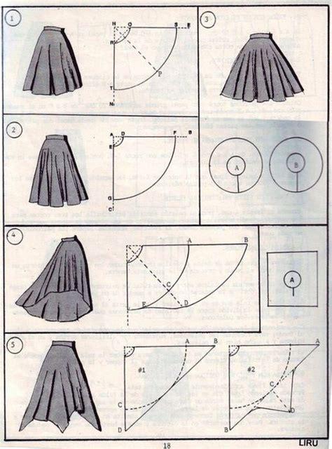 pattern making en espanol high low circle skirt dress sewing project