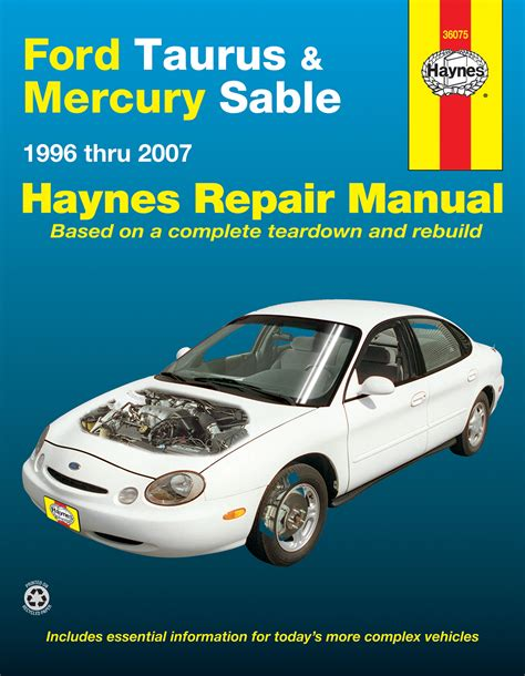 ford taurus mercury sable 96 07 haynes repair manual haynes manuals