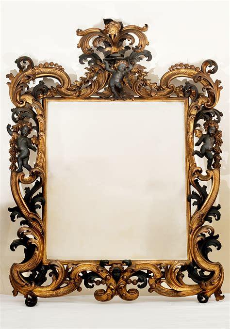 cornici barocche per specchi coppia di cornici barocche de munari antiquariato vicenza