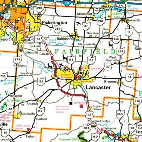 Fairfield County Search Fairfield County Ohio Map Ohiobiz