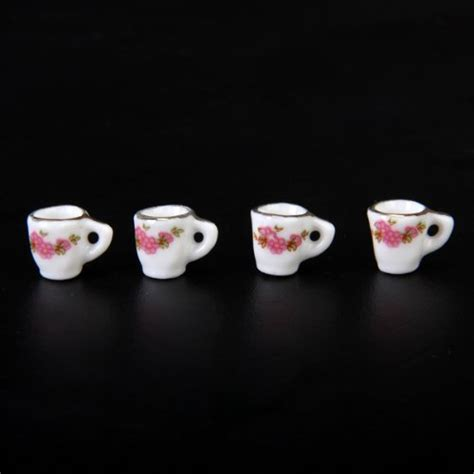 Pot Rumput Set 4 Pot X 1set 15pcs 1set dollhouse miniature dining ware porcelain tea