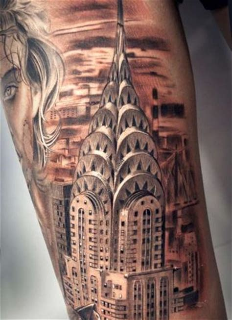 building tattoo designs 8 awesome chrysler building tattoos temporary