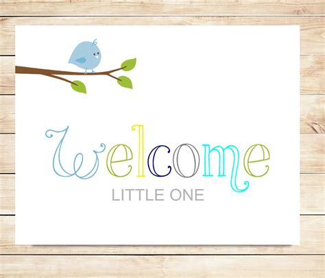 printable welcome card printable new baby boy welcome card instant download card