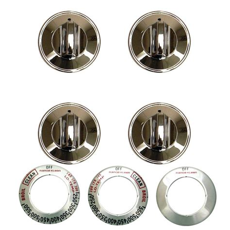 Gas Stove Knobs Replacements by Ge Electric Range Burner Knob Kit Pm3x84ds The Home Depot