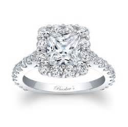 cut wedding rings barkev s princess cut halo engagement ring 7939l