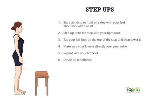 step bench exercises 10 simple exercises and stretches to keep your knees