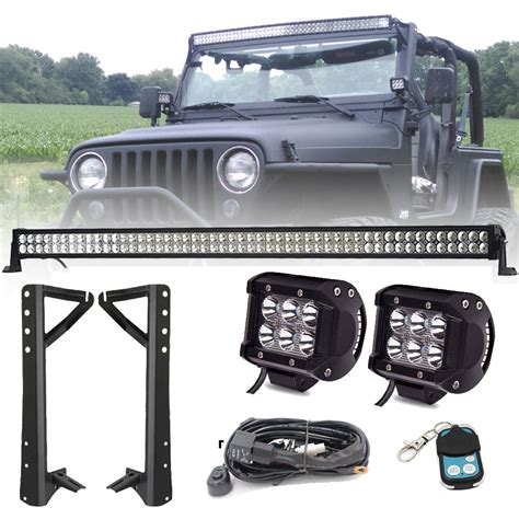 50 52 Inch Led Light Bar Mount Bracket 4 Quot Inch Cree 50 Led Light Bar Jeep
