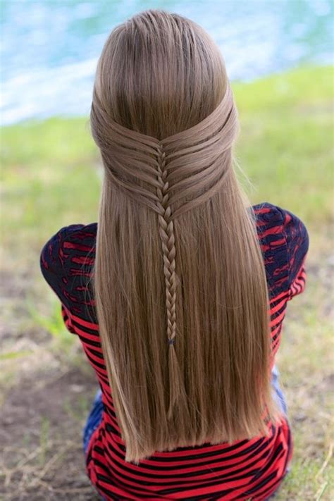 easy unique hairstyles for school mermaid half braid by hairstyles create this