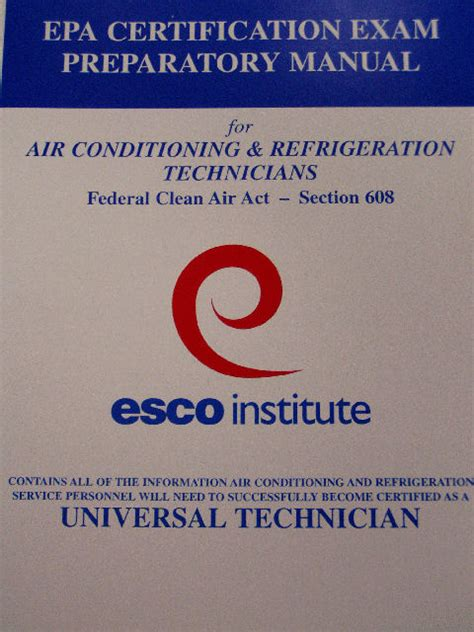clean air act section 608 refrigeration refrigeration 608 certification
