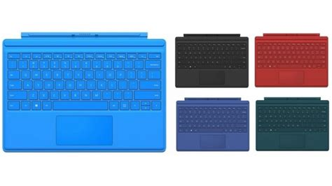 surface pro keyboard colors microsoft surface pro 4 type cover cases keyboards
