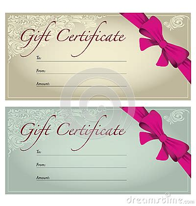 makeup gift card template gift voucher stock photography image 32764072