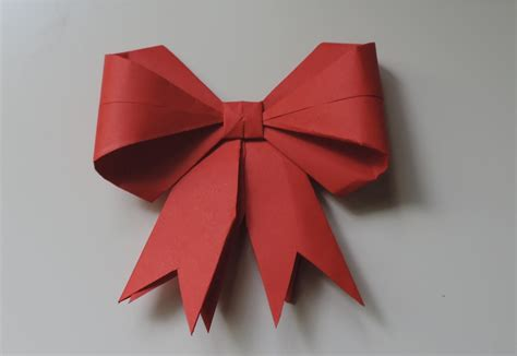 Origami Present Bow - origami diy simple origami gift bow ribbon