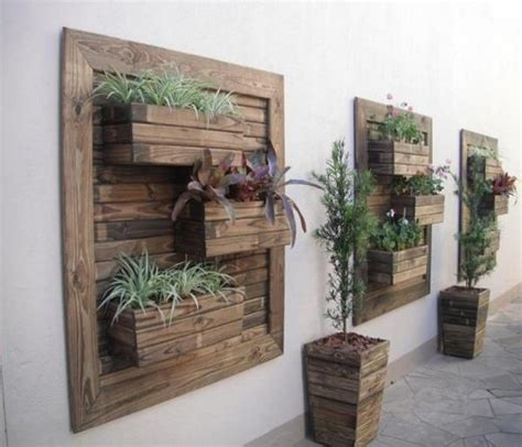 Wall Planter Ideas by Pallets Made Wood Wall Planter Ideas Pallet Ideas