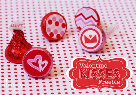 Valentines Kisses by Amanda S To Go Freebie Valentines Hershey