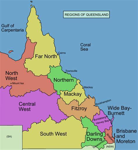 regional map of australia city spotlights in queensland budget truck rental