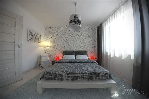 black and white bedroom with a pop of color 19 bedrooms with neutral palettes