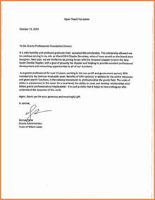 Scholarship Thank You Letter Business Administration 7 Thank You Note For Scholarship Marital Settlements Information