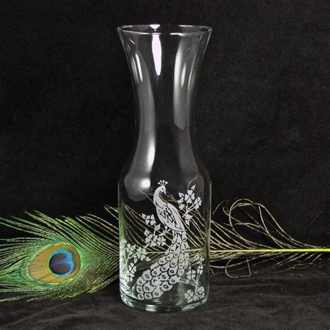 Unity Vases by Peacock Wine Carafe Vase For Decor Or Unity Ceremony For