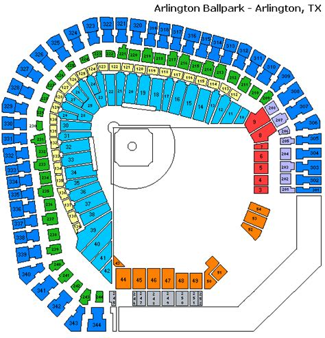 texas rangers stadium map mlb baseball tickets texas rangers tickets texas rangers ticket prices texas rangers venue