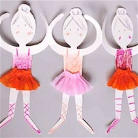 Paper Dolls Craft - paper doll ballerinas easy craft tip junkie